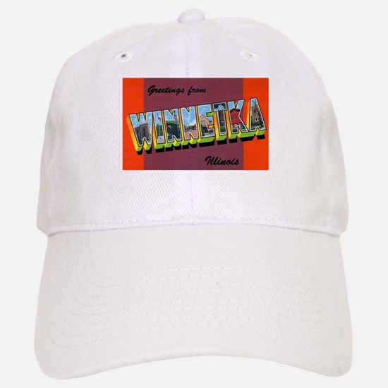 Winnetka Illinois Greetings Baseball Baseball Cap