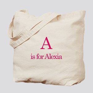 A is for Alexia Tote Bag