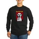 Obey the Dalmatian! Long Sleeve Dark T-Shirt