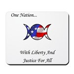 One Nation Wiccan Mousepad