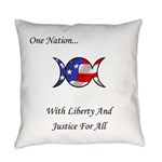 One Nation Wiccan Everyday Pillow