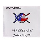 One Nation Wiccan Throw Blanket