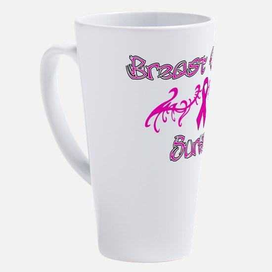 Funny 3 day breast cancer walk 17 oz Latte Mug