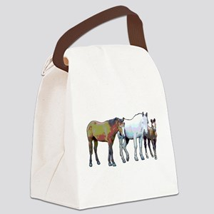 Horse family Canvas Lunch Bag