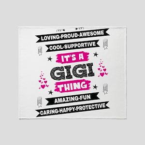 It's A Gigi Thing Throw Blanket