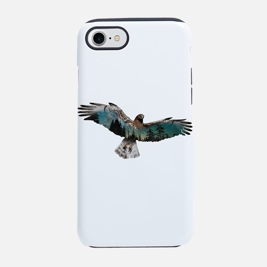 Hawk Double Exposure iPhone 8/7 Tough Case