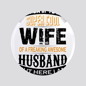 Super Cool Wife Of A Freaking Awesome Husband 3.5""