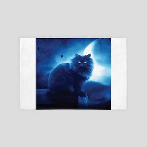 Black Cat In The Night 4' x 6' Rug