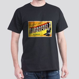 Brookfield Illinois Greetings (Front) Dark T-Shirt