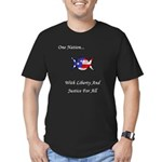 One Nation Wiccan Men's Fitted T-Shirt (dark)