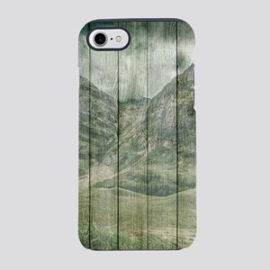 Rustic Country Wood Mountain iPhone 8/7 Tough Case