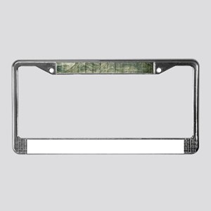Rustic Country Wood Mountains License Plate Frame