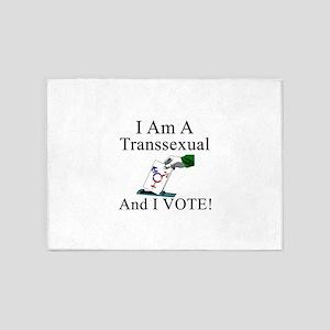 A - I vote tranny 5'x7'Area Rug
