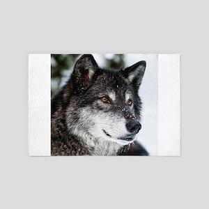 Beautiful Grey Wolf 4' x 6' Rug
