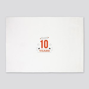 10 th Anniversary 5'x7'Area Rug