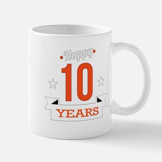 10 th Anniversary Mugs