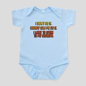 I Didn't Do It Baby Light Bodysuit