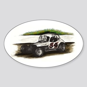 """Old Dirt!"" 54 Bobby Gerhart Oval Sticker"