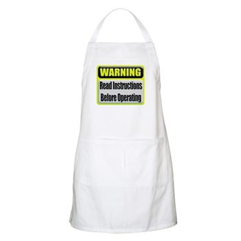 Read Instructions First BBQ Apron
