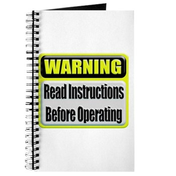 Read Instructions First Journal