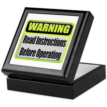 Read Instructions First Keepsake Box