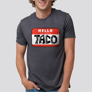 Hello My Name is Taco Mens Tri-blend T-Shirt