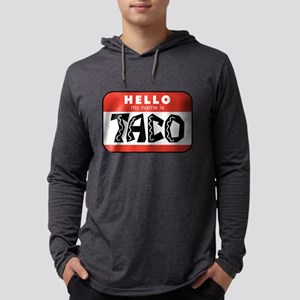 Hello My Name is Taco Mens Hooded Shirt
