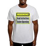 Read Instructions First Ash Grey T-Shirt