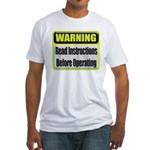 Read Instructions First Fitted T-Shirt