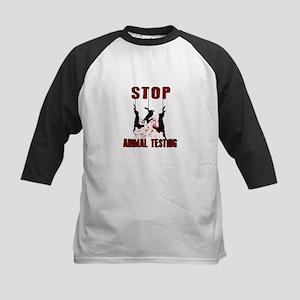 Stop Animal Testing - Rabbits Baseball Jersey