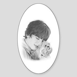 Best Friends Forever Oval Sticker