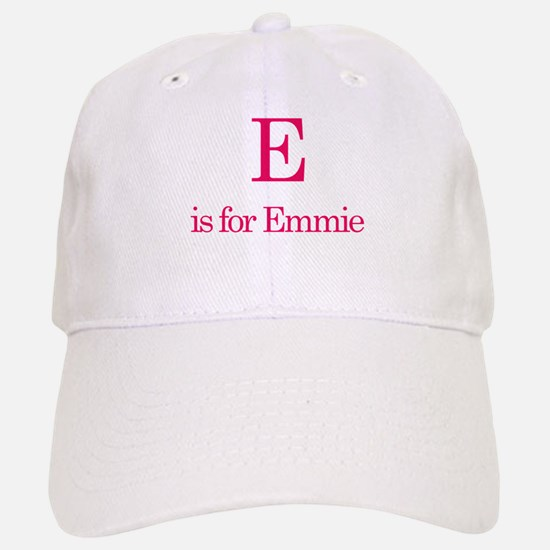 E is for Emmie Baseball Baseball Cap