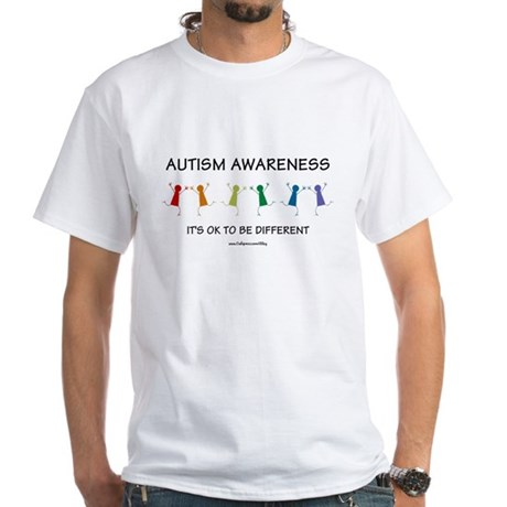 Autism Difference White T-Shirt