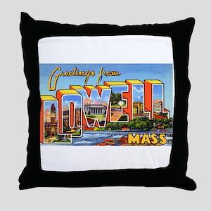 Lowell Massachusetts Greetings Throw Pillow