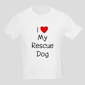 I Love My Rescue Dog Kids Light T-Shirt