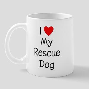 I Love My Rescue Dog Mug