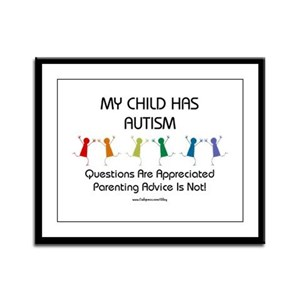 My Child Has Autism Framed Panel Print
