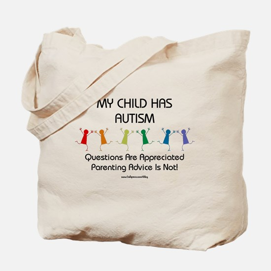 My Child Has Autism Tote Bag