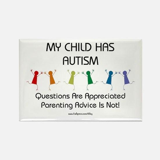 My Child Has Autism Rectangle Magnet