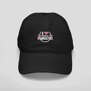 I Heart Rhythmic Gymnastics S Black Cap with Patch
