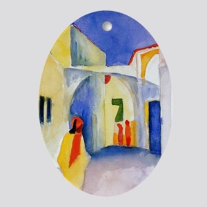 Lane View by Franz Marc Oval Ornament