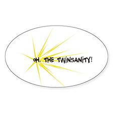 Twinsanity - Oval Sticker