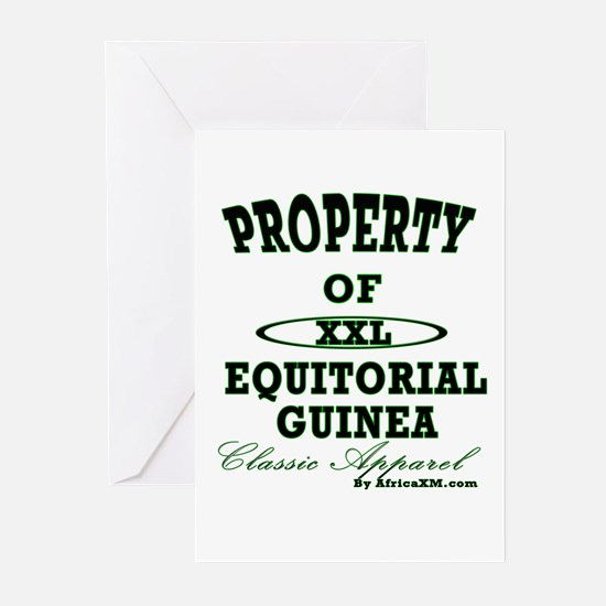 Property Of Equitorial Guinea Greeting Cards (Pack