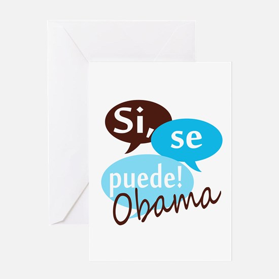 Si, se puede, Obama! Greeting Card