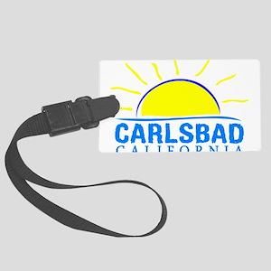 Summer carlsbad state- californi Large Luggage Tag