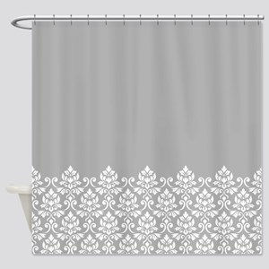 Feuille Damask Part Ptn WG Shower Curtain