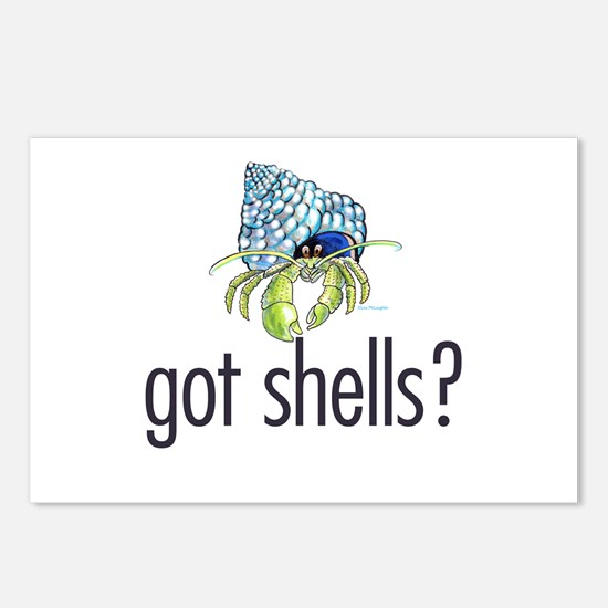 hermit crab Postcards (Package of 8)