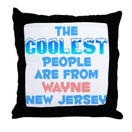 Coolest: Wayne, NJ Throw Pillow