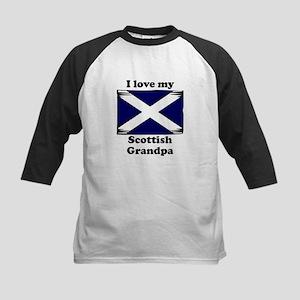 I Love My Scottish Grandpa Baseball Jersey