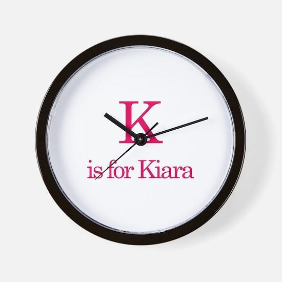 K is for Kiara Wall Clock